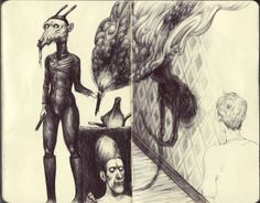 Sophie Franz sketchbook page.