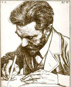 Veth, Jan Pieter (1864-1925) - 1896 Portrait of August Bebel (wood engraving)   by RasMarley