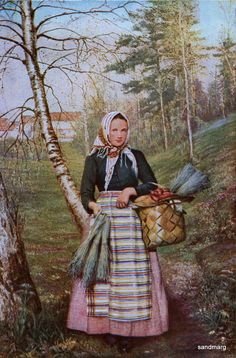 1907 Portrait of a Finnish Peasant Girl.