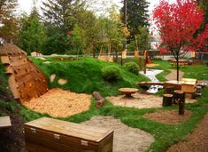 This was a project that we designed and built in Conway, New Hampshire. We have many more completed projects on our website gallery. Visit us at naturalplaygrounds.com/portfolio.php