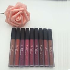 Huda Beauty Liquid Lipstick Liquid lipstick Lip Gloss Make up Waterproof Long Lasting Lipgloss