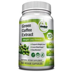 Pure Green Coffee Bean Extract GCA 1000 mg - 50% Chlorogenic Acids
