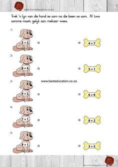 = getalle. Afrikaans Wiskunde Graad 1 www.besteducation.co.za Fun Math, Maths, Romantic Night, Afrikaans, Grade 1, Teacher, Education, English, Slim
