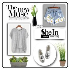 """SheIn 10/XVII"" by nermina-okanovic ❤ liked on Polyvore featuring LSA International, Esschert Design and shein"