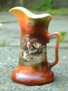 Antique Royal Bayreuth china cream pitcher