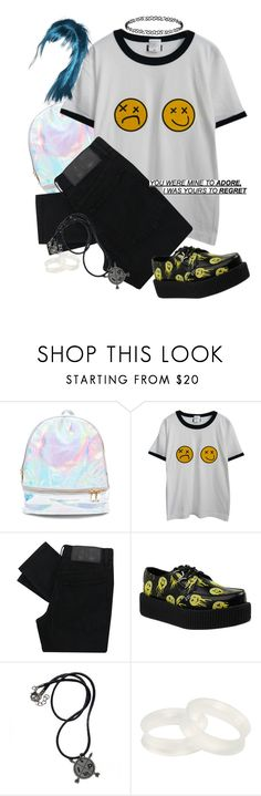 """I Wish I Could Cross My Arms And Cross Your Mind"" by princess-bands ❤ liked on Polyvore featuring 3 AM Imports, Chicnova Fashion, Cheap Monday, T.U.K., Hot Topic and Dorothy Perkins"