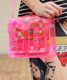 DIY Sticker bag - in neon pink!