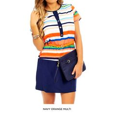Striped Short Sleeved Collarless Dress With Belt Affordable Dresses, Striped Shorts, New Outfits, Belt, Pants, Clothes, Tops, Women, Fashion