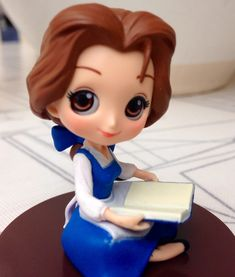 Beauty and The Beast Polymer Clay Disney, Polymer Clay Dolls, Polymer Clay Crafts, Disney Barbie Dolls, Disney Princess Dolls, Cute Kawaii Girl, Frozen Film, Disney Figurines, Disney Images