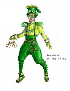 OZ 2.5 (Guardian of the Gates). South Coast Repertory, Theatre for Young Audiences. Costume design by Sara Ryung Clement.