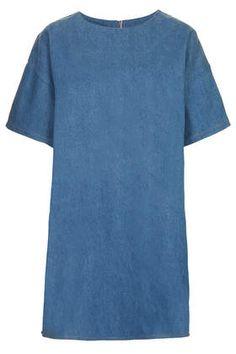 **Denim T-Shirt Dress by The Whitepepper - Dresses  - Clothing