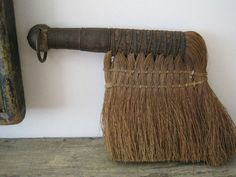 Old Primitive UNUSUAL Whisk Broom from a Early Broom Collection Great Find
