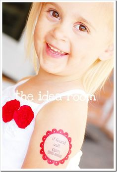 Best use of a temporary tatoo!