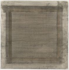 """Agnes Martin, """"Wood I,"""" 1963, watercolor and graphite on paper, 15 x 15 1/2 inches (38.1 x 39.4 cm). Gift of Sally and Wynn Kramarsky, The Museum of Modern Art, New York. © 2012 Estate of Agnes Martin / Artists Rights Society (ARS), New York"""