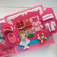 Quiet Book doll house - 2 doll + 2 sets of clothes - 77 pieces -Felt quiet book for two dolls - Quiet book dollhouse Activity Books For Toddlers, Book Activities, Summer Activities, Indoor Activities, Quiet Book Patterns, Felt Quiet Books, Operation Christmas Child, Developmental Toys, Toddler Books
