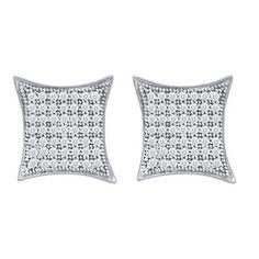3/8CT-Diamond MICRO-PAVE EARRINGS