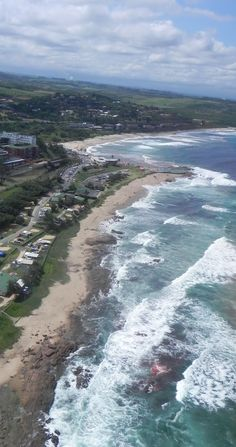 Aerial view of coastline south of Durban Durban South Africa, South Afrika, Living In Europe, Kwazulu Natal, Out Of Africa, Kruger National Park, Panama City Panama, Africa Travel, Continents