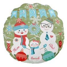 #Custom #Winter #Snowmen #Family #Christmas #Pillow