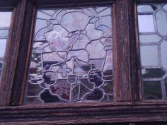 Tudor window at little Moreton Hall, Cheshire.