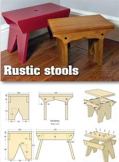rustic furniture plans. rustic stool plans furniture and projects woodarchivistcom