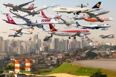 Céus congestionados: mais movimentada região do Brasil, São Paulo vê passar cerca de 2 mil aviões todos os dias
