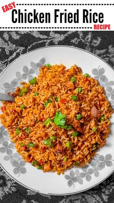 Easy Chicken Fried Rice Recipe: Authentic Chinese Fried Rice : Fried Rice Recipe - #friedrice #chickenfriedrice #chinesefriedrice #chineserecipe