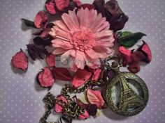 Flower with French Pocket Watch by danubia at PhotoBtc.com