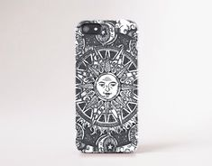 iPhone 6 Case Moon iPhone 5C Case Sun Moon iPhone5 Case Vintage iPhone Case Retro Illustration iPhone Case Samsung S5 Case Tough iPhone Case