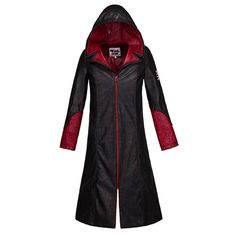 Devil May Cry V 5 Dante DMC 5 Cosplay Costume Quality PU Leather Jacket coat * You can get additional details at the image link.