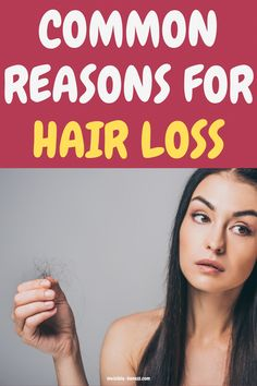 Suffering from hair loss? Here are the most common causes of hair loss in women and what you can do about it! #BestNaturalShampooForHairLoss #NormalHairLoss Baby Hair Loss, Hair Loss Cure, Stop Hair Loss, Prevent Hair Loss, Argan Oil For Hair Loss, Best Hair Loss Shampoo, Biotin For Hair Loss, Biotin Hair, Hair Shampoo