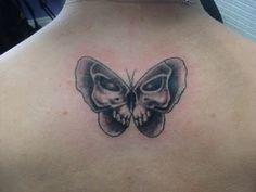 Skull Butterfly Tattoo with Tattoo Girls - Butterfly Tattoos - Zimbio Skull Butterfly Tattoo, Skull Girl Tattoo, Butterfly Tattoo Meaning, Butterfly Tattoos For Women, O Tattoo, Fire Tattoo, Skull Tattoos, Tattoo Girls, Girl Skull