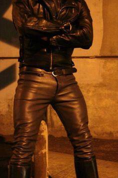 Men's Biker jacket & leather pants / trousers