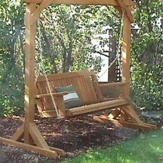 Maybe For The Back Corner Of Yard Porch Swing Frame Swings Pergola