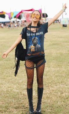 T-Shirt Estilo Rockeira - Ideias de Looks para o Festival Lollapalooza 2018