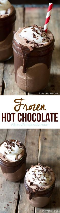 Frozen Hot Chocolate - Cooking and Recipes