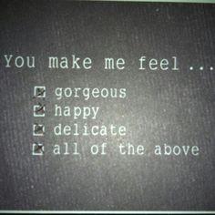 Make her feel like this.