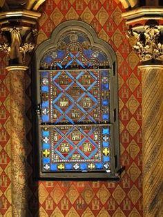 Paris, Sainte Chapelle (another view) Sainte Chapelle Paris, Saint Chapelle, Leaded Glass, Stained Glass Windows, St Louis, Paris Love, Space Images, Sacred Art, Beautiful Space