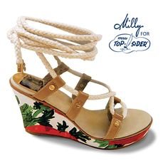 Women's Southport Ghillie Wedge Sandal by Milly for Sperry Top-Sider. Love love love this collection