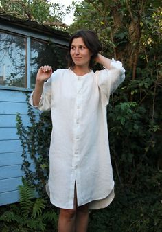 Linen Tunic Dress Tutorial, they also have a tutorial for grading your pattern to another size