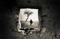 Behind the Old Window by Adrian Limani