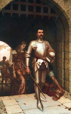 Conquest by Edmund Blair Leighton, Oil on Canvas
