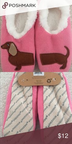 Snoozies Slippers Adorable!!!!  Every Dachshund owner needs these!! Size Small (fits 5/6) Accessories Hosiery & Socks