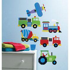 Sticker repositionnable Trains, camions et avions : Wallcandy Arts - Stickers transports - Berceau Magique