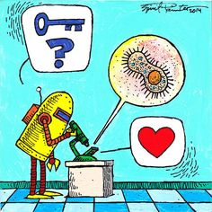 Dawkins the Robot Tiny Daily Reiki 064  Like any good scientist, Dawkins is very thorough in its quest for the answer.