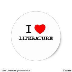 I Love Literature Classic Round Sticker