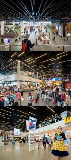 Schiphol Airport, the Netherlands. BXD - Multi Panel Ceiling System by Hunter Douglas Architectural Europe. Design freedom for the architect. For more information click on the picture.