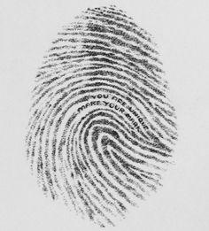 You are unique. make your mark... Fingerprint. Pointilism