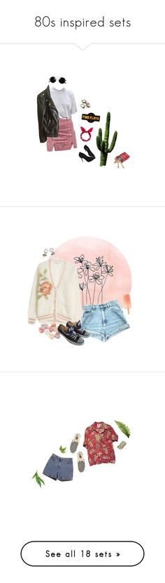 """80s inspired sets"" by flowersoflife ❤ liked on Polyvore featuring Schott NYC, Schutz, Floyd, Mes Demoiselles..., London Road, Converse, Ann Taylor, Vans, Nasty Gal and Christian Louboutin"