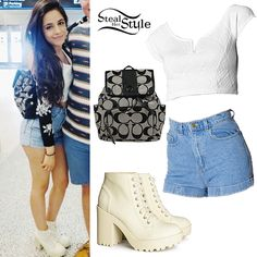 Camila Cabello: Quilted Crop Top, Denim Shorts