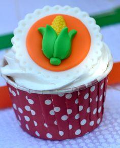 Corn Cupcakes #cupcakes #farm
